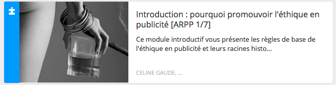 Module éthique : introduction