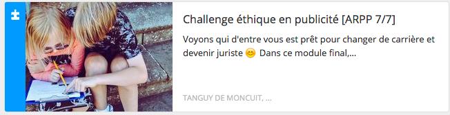 Module éthique : challenge final
