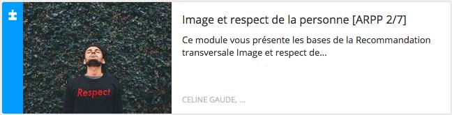 Module éthique : image et respect de la personne